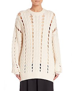 Alexander Wang | Cable-Knit Cotton Pullover