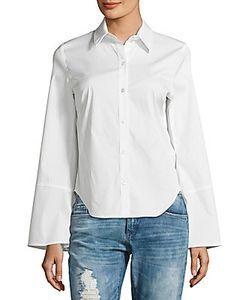Saks Fifth Avenue | Solid Cotton-Blend Shirt