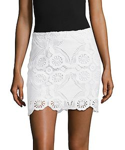 Saks Fifth Avenue | Scalloped Lace Skirt