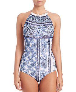 Jean Paul Gaultier   One-Piece Pareo Print Swimsuit