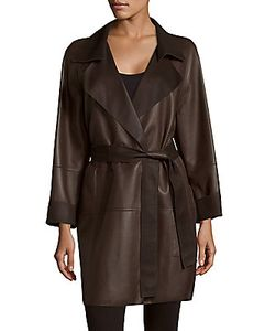 Akris | Throne Belted Leather Coat