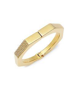 Vita Fede | Octagonal Crystal Studded Hinged Bracelet
