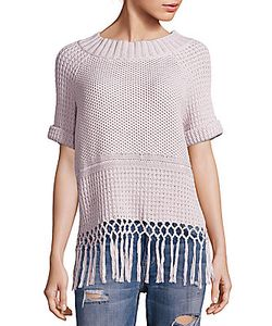 Current/Elliott | Peggy Fringe Hem Crochet Sweater