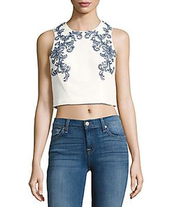 Marchesa Notte | Beaded Embroidered Cropped Top