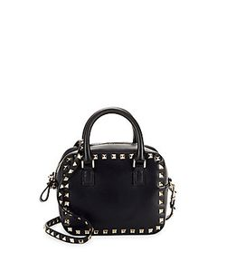 Valentino   Studded Leather Top Handle Bag