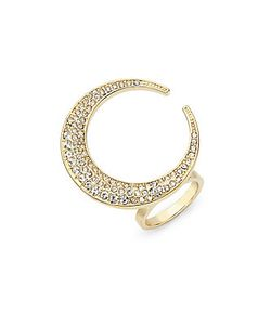 CC SKYE | 18k Crescent Moon Ring