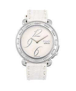 Fendi   Selleria Stitched Bezel Watch