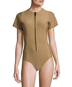 Lisa Marie Fernandez   Short-Sleeve Bodysuit