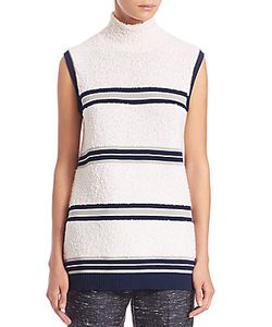 Derek Lam | Striped Sleeveless Boucleacute Top