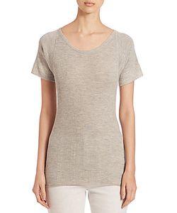 Derek Lam | Rib-Knit Cashmere Silk Blend T-Shirt