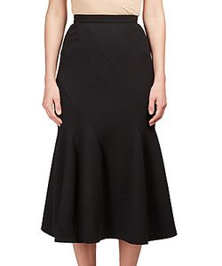 Roland Mouret | Wool Blend Pleated Skirt