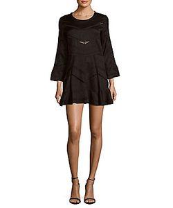 Iro   Madelina Roundneck Long-Sleeve Dress