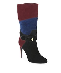 Burberry | Pimlico Patchwork Suede Buckle Boots