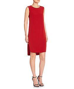 Donna Karan | High-Low Sleeveless Shift Dress