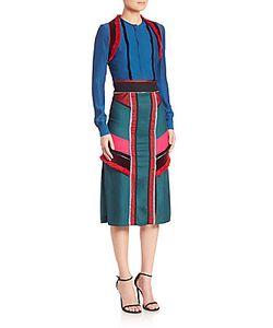 Altuzarra   Long Sleeve Patchwork Dress