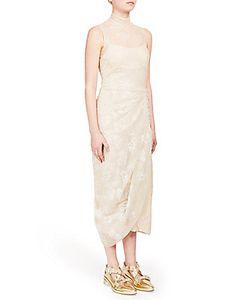 Simone Rocha | Gathered Tinsel Embroidered Dress