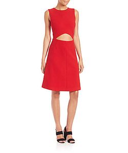 Suno | Cutout A-Line Dress