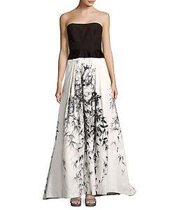 Carolina Herrera | -Print Strapless Train Gown