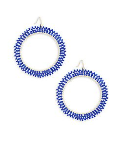 Saks Fifth Avenue | Beaded Hoop Earrings/2