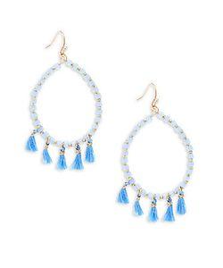 Saks Fifth Avenue | Tassel-Accented Hoop Earrings/1.25