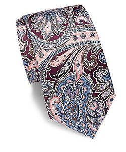 Saks Fifth Avenue | Paisley Silk Tie