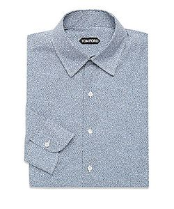 Brunello Cucinelli | Printed Cotton Dress Shirt