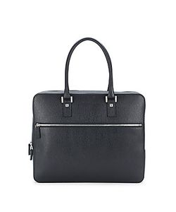 Salvatore Ferragamo | Textu Leather Zipper Briefcase