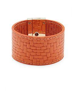 CC SKYE | Embossed-Leather Wrap Bracelet