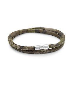 Tateossian | Leather Wrap Bracelet