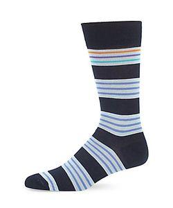 Saks Fifth Avenue | Ribbed-Cuffs Striped Socks