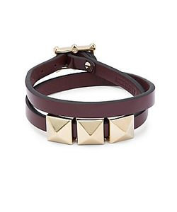 Valentino | Stud Leather Bracelet