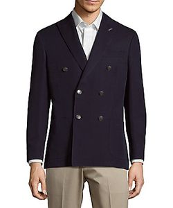 Michael Bastian | Double-Breasted Cotton-Blend Jacket