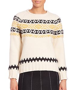 Suno | Fairisle Crewneck Sweater