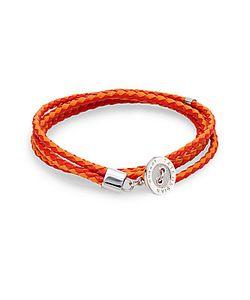 Tateossian   Two-Tone Leather Button Wrap Bracelet