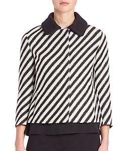 Akris Punto | Striped Stretch-Wool Jacket