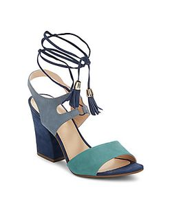 Saks Fifth Avenue | Kaira Leather Ankle Strap Sandals
