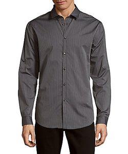 John Varvatos | Slim-Fit Collar Cotton Casual Button Downshirt