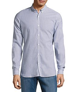 The Kooples | Cotton-Blend Striped Casual Shirt