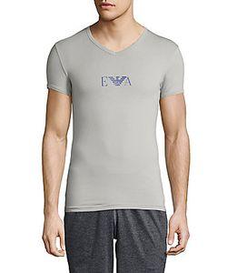 Emporio Armani | Logo-Print V-Neck Tee