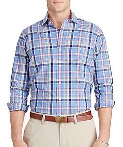 Ralph Lauren Purple Label | Checked Cotton Poplin Shirt