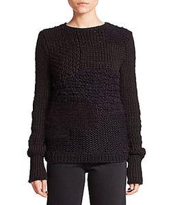 Helmut Lang | Alpaca Wool Patchwork Knit Sweater