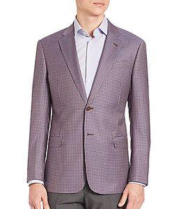 Giorgio Armani   Slim-Fit Check Wool Blazer