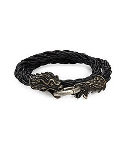Valentino | Braided Leather Bracelet