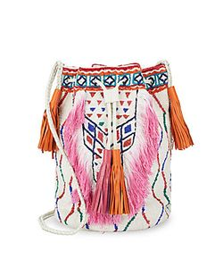 Antik Batik | Fringed Bucket Bag