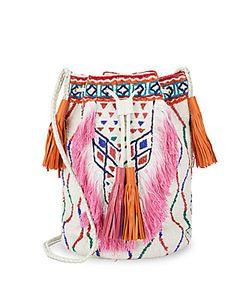Antik Batik | Fringed Bucket Bag