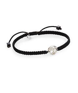 Tateossian   Talisman Macram Skull Bracelet