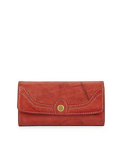 Frye   Campus Foldover Leather Wallet