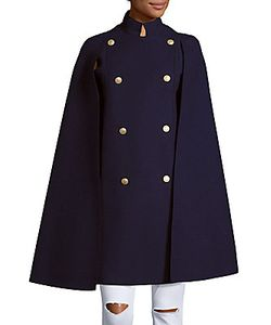 Pierre Balmain | Solid Double-Breasted Cape