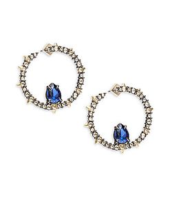 Alexis Bittar   Elements Swarovski Crystal Corundum 10k Hoop Earrings