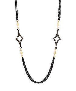 Armenta | Old World Champagne Diamond 18k Goldplated Sterling Crivelli-Station Necklace